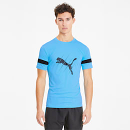 ftblPLAY Logo Herren T-Shirt, Luminous Blue-Puma Black, small