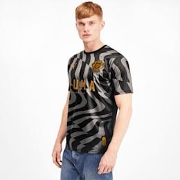 Camisola de futebol Psychedelic para homem, Puma Black-Steel Gray, small