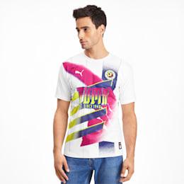 Camisola de futebol Retro White para homem, Puma White-Pink Glo, small