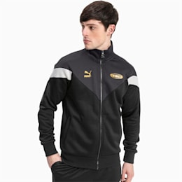King Track Jacket, Black-Gray Violet-Black, small
