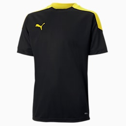 ftblNXT Kids' Tee, Puma Black-ULTRA YELLOW, small