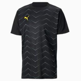 ftblNXT Graphic Core-T-shirt til børn, Puma Black-ULTRA YELLOW, small