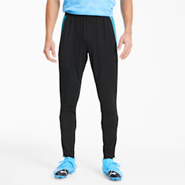 ftblNXT Knitted Men's Football Sweatpants, Puma Black-Luminous Blue, small-SEA