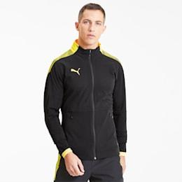 ftblNTX Pro Men's Football Jacket, Puma Black-ULTRA YELLOW, small