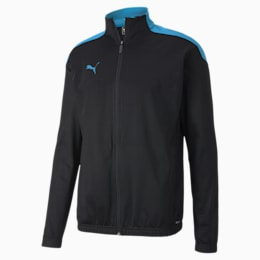 ftblNXT Men's Track Jacket, Puma Black-Luminous Blue, small-SEA