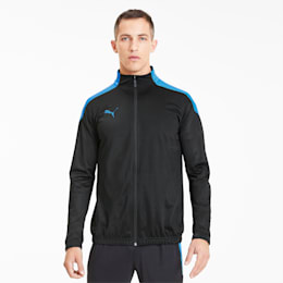 ftblNXT Men's Track Jacket, Puma Black-Luminous Blue, small