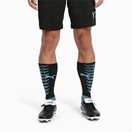 ftblNXT Team Men's Football Socks, Puma Black-Luminous Blue, small