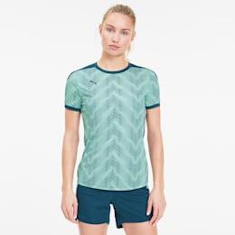 ftblNXT Graphic voetbalshirt voor dames, Dark Denim-Mist Green, small