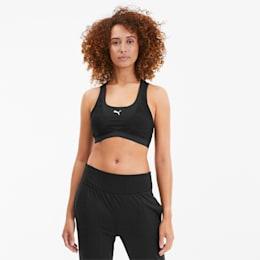 Studio Lace Strappy Damen Sport-BH, Puma Black, small