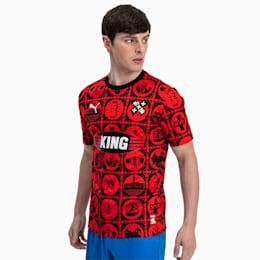 Maglia da calcio AMSTERDAM a maniche corte in jersey uomo, Puma Red-Puma Black, small