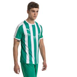Fußball Herren LIGA Gestreiftes Trikot, Pepper Green-Puma White, small
