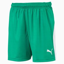 LIGA Kids' Football Shorts, Pepper Green-Puma White, small