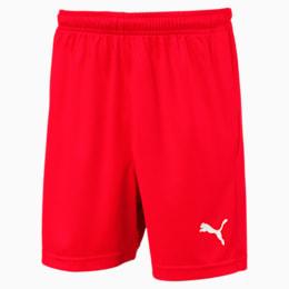 Liga Core Junior Football Shorts, Puma Red-Puma White, small