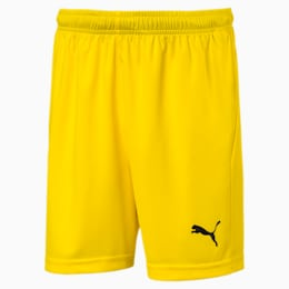 Liga Core Junior Football Shorts, Cyber Yellow-Puma Black, small
