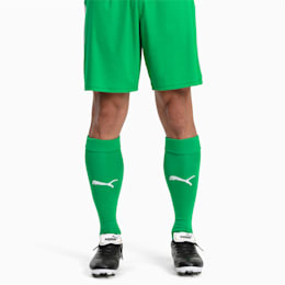 Football Men's LIGA Core Socks, Bright Green-Puma White, small