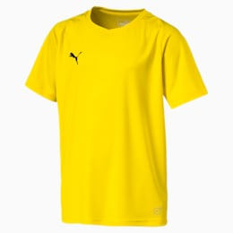 Liga Core Junior Football Jersey, Cyber Yellow-Puma Black, small