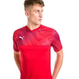 Camisola de futebol CUP para homem, Puma Red-Puma White, small