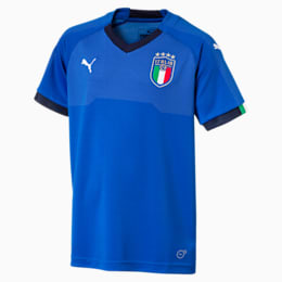 Camiseta deportiva para niño 1.ª equipación Italia, Team Power Blue-Peacoat, small