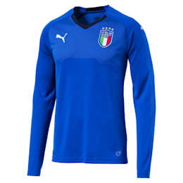 Italia Long Sleeve Home Replica Jersey, Team Power Blue-Peacoat, small