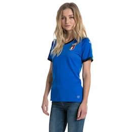 Camisola réplica Italia Home para mulher, Team Power Blue-Peacoat, small