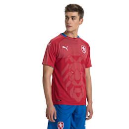 Czech Republic Home Replica Jersey, Chili Pepper-Puma Royal, small