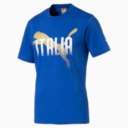 Italiensk FIGC-fanwear grafisk T-shirt til mænd