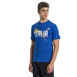FIGC Italia Fanwear Grap Tee, Team Power Blue, small
