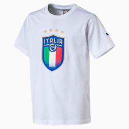 Italia Kinder Wappen T-Shirt, Puma White, small