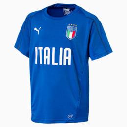 Italia Short Sleeve Training Jersey Jr, Team Power Blue-Puma White, small