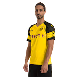 BVB Men's Home Replica Jersey, Cyber Yellow, small