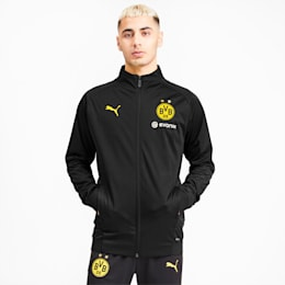 BVB Softshell-jakke til mænd, Puma Black-Cyber Yellow, small