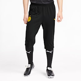 BVB Men's 3/4 Training Pants, Puma Black-Cyber Yellow, small