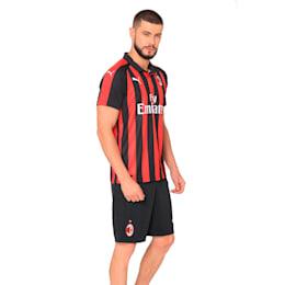 AC Milan Men's Replica Home Jersey, Tango Red-Puma Black, small-IND