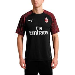 AC Milan Men's Replica Third Shirt, Puma Black-Tango Red, small