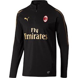 AC Milan1/4 Zip Top with Sponsor, Puma Black-Victory Gold, small