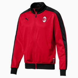 AC Milan Men's T7 Track Jacket, Tango Red-Puma Black, small