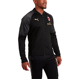 AC Milan Stadium Men's Poly Jacket, Puma Black-Tango Red, small