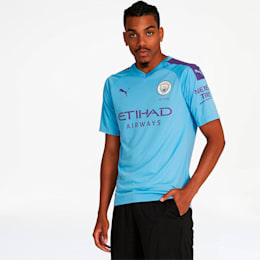 Manchester City FC Men's Home Authentic Jersey, TeamLightBlue-TillandsiaPurp, small