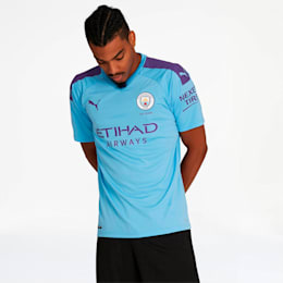 Manchester City FC Men's Home Replica Jersey, TeamLightBlue-TillandsiaPurp, small