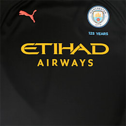 Man City Short Sleeve Kids' Away Replica Jersey, Puma Black-Georgia Peach, small-IND