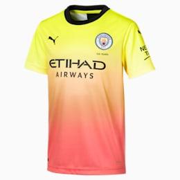 Maillot Troisième tenue Manchester City FC Replica pour enfant, Fizzy Yellow-Georgia Peach, small