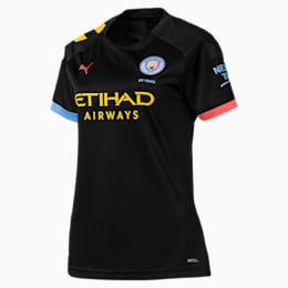 Maglia Away a maniche corte Manchester City Replica donna, Puma Black-Georgia Peach, small