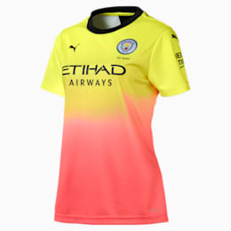 Man City Short Sleeve Women's Replica Third Jersey, Fizzy Yellow-Georgia Peach, small