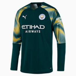 Maglia da portiere Manchester City replica uomo, Ponderosa Pine-Cyber Yellow, small