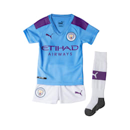 Man City Kids' Home Replica Mini Kit, TeamLightBlue-TillandsiaPurp, small-SEA