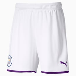 Manchester City FC Kids' Third Replica Shorts, Puma White-Tillandsia Purple, small
