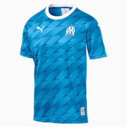 Camisola alternativa do Olympique de Marseille Replica para homem, Bleu Azur-Puma White, small