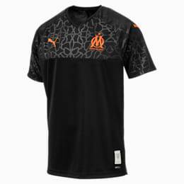 Maillot de remplacement Olympique de Marseille Replica pour homme, Puma Black-Orange Popsicle, small
