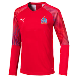 Olympique de Marseille Long Sleeve Boys' Goalkeeper Jersey
