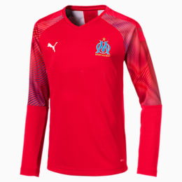 Olympique de Marseille Long Sleeve Kids' Goalkeeper Jersey, Puma Red, small